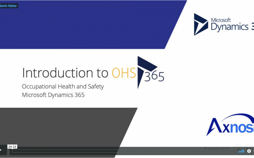 Introduction to OHS 365 – video